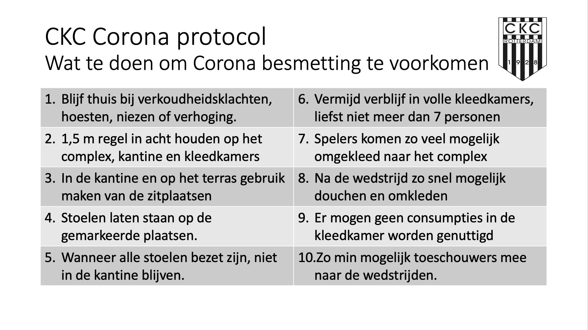 CKC Corona Beleid - aangepast