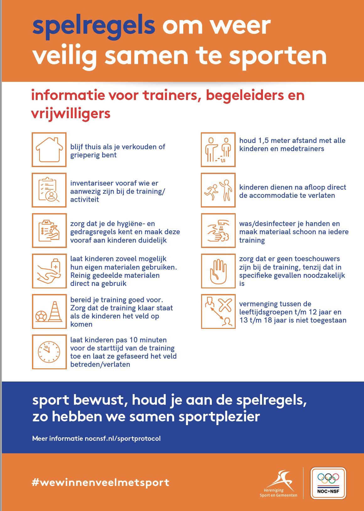 Spelregels voor Sporters en Ouders