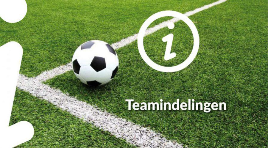voorlopige teamindeling 2021/2022